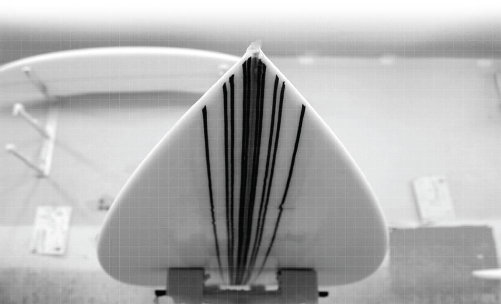 サーフボードのカーボン